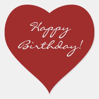 Happy Birthday Heart Heart Sticker