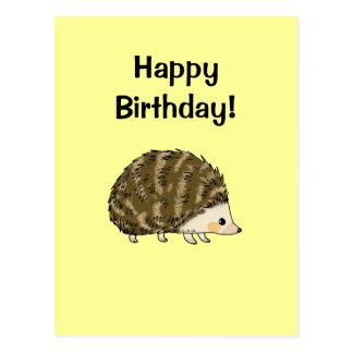 Happy birthday hedgehog post card
