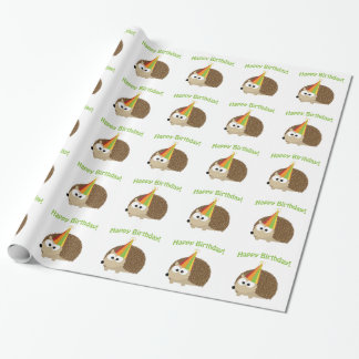 Happy Birthday! Hedgehog Wrapping Paper