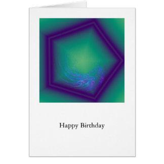 Happy Birthday Hex Greeting Card