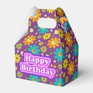 Happy Birthday Hippie Flowers Favour Box