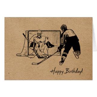 Happy Birthday Hockey Card - Male
