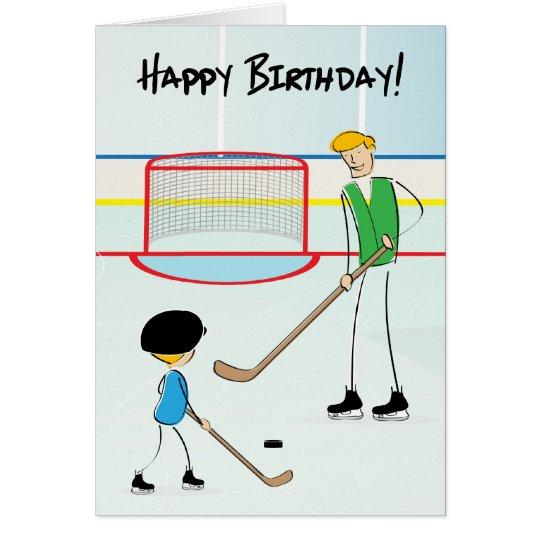 Happy Birthday Hockey Greeting Card (from boy)