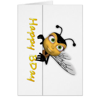 Happy Birthday Honey Bee - Happy BDay Card