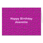 Happy Birthday, Hot Pink Jigsaw Puzzle Greeting Cards