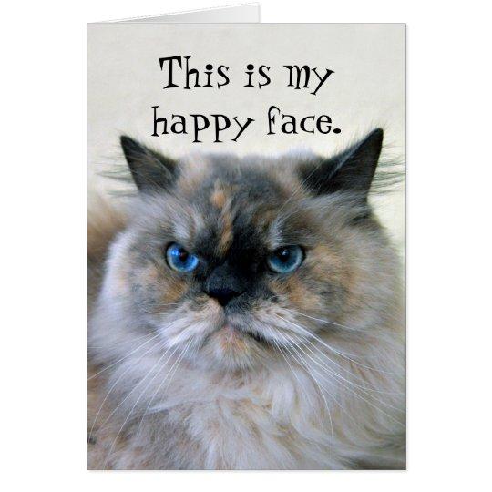 Happy Birthday Humour Himalayan Persian Cat Card