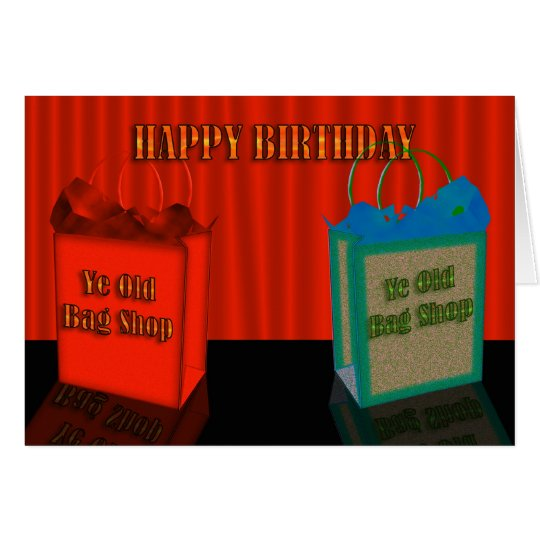 Happy Birthday Humour, two old bags Card