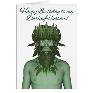 Happy Birthday Husband Green Man Card