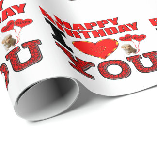 Happy Birthday I Love You Wrapping Paper
