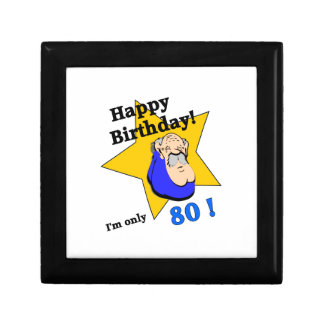 Happy Birthday - I m ONLY 80 png Jewelry Boxes