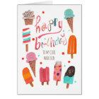 Happy Birthday   Ice cream Greeting Card