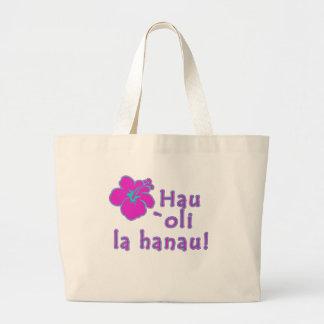 Happy Birthday In Hawaiian Canvas Bags