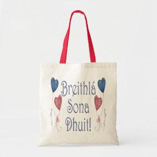Happy Birthday! in Irish Gaelic Budget Tote Bag