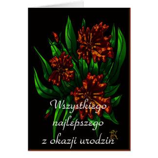 Happy Birthday in Polish Greeting Card