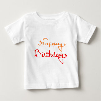 Happy Birthday in Red And Orange Tshirt