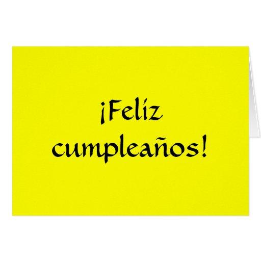 Happy Birthday in Spanish! Greeting Cards