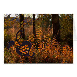 Happy Birthday in the fall (autumn) CC0801 Greeting Card