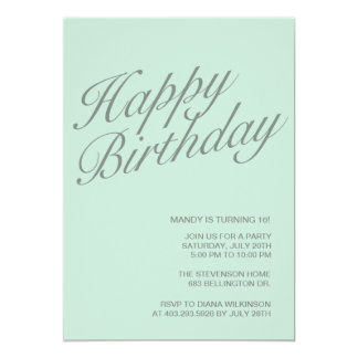 Happy Birthday Personalized Invitation