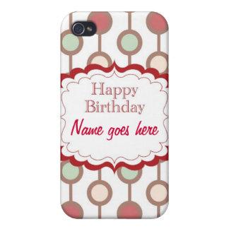 Happy Birthday iPhone 4 Covers