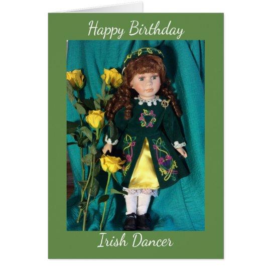 Happy birthday Irish dancer Card