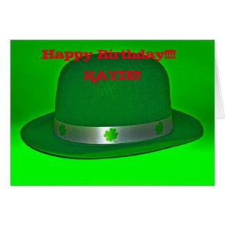 Happy Birthday Irish Derby Hat!! Greeting Card