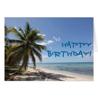 Happy Birthday Isla Saona Caribbean Paradise Beach Card