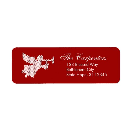 Happy Birthday Jesus  Angel Christian Religious Return Address Label