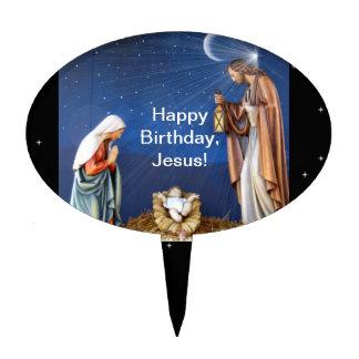 Happy Birthday, Jesus! Cake Toppers