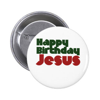 Happy Birthday Jesus Christmas Buttons