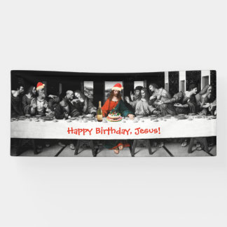 Happy Birthday, Jesus! Funny Christmas Banner