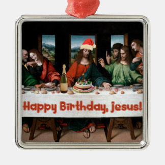 Happy Birthday, Jesus! Funny Christmas Ornament