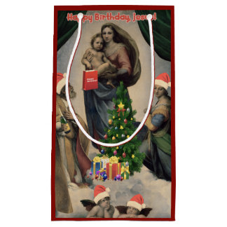 Happy Birthday, Jesus! Funny remake of Raphael Small Gift Bag