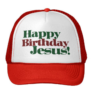 Happy Birthday Jesus it s Christmas Mesh Hat