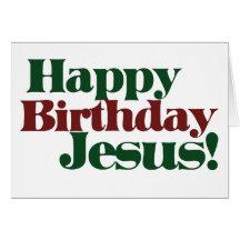 Happy birthday jesus cards invitations zazzle bookmarktalkfo Gallery
