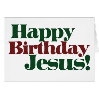 Happy Birthday Jesus it's Christmas Greeting Card