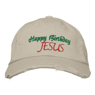 HAPPY BIRTHDAY JESUS Ladies Christmas Cap Embroidered Baseball Caps