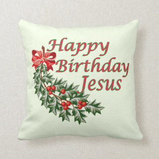 Happy Birthday Jesus Pillow