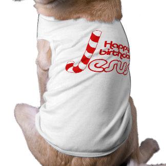 HAPPY BIRTHDAY JESUS -.png Doggie T-shirt