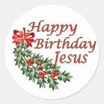 Happy Birthday Jesus Round Sticker