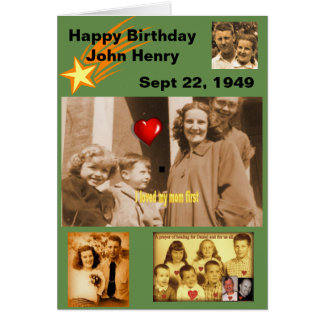 HAPPY BIRTHDAY JOHN CARD