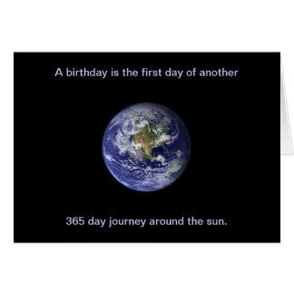 Happy Birthday: Journey around the sun Card