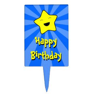 Happy Birthday Kawaii Star Cake Pick