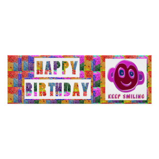 HAPPY Birthday  :  KEEP Smiling Posters