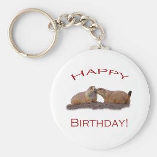 Happy Birthday Kiss Key Chain