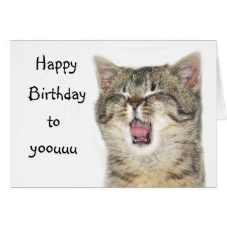 cat singing happy birthday cards  invitations  zazzle.co.uk, Birthday card