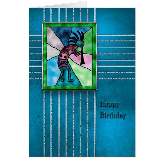 HAPPY BIRTHDAY - KOKOPELLI -AMERICAN INDIAN SERIES CARD