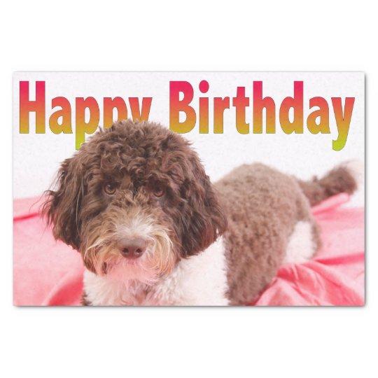 Happy Birthday Labradoodle Dog Tissue Paper