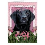 Happy Birthday - Labrador - Black - Gauge Greeting Card