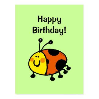 Happy birthday! (ladybug) postcard