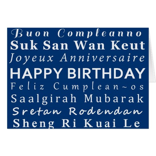 Happy Birthday language card